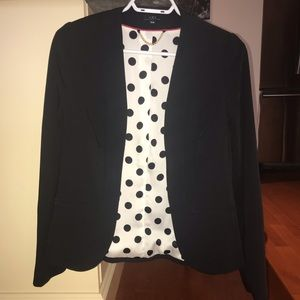 Black open front blazer - size 34 (small)